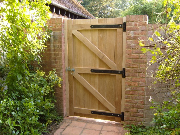 Outdoor Garden Doors Of Timber For Hardwood Garden Gate